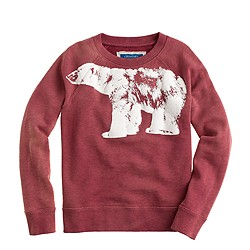 Boys' glow-in-the-dark polar bear sweatshirt