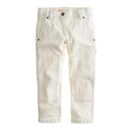 Girls' Riley carpenter jean in ecru