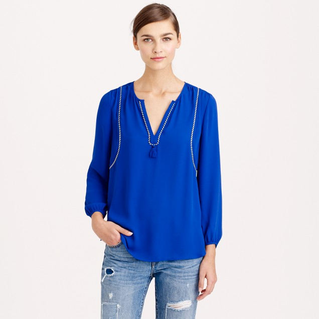 Tassel-trim top