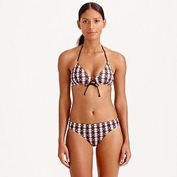 Shadow diamond crisscross french bikini top