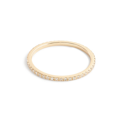 Gabriela Artigas® 14k gold and pavé diamond axis rings