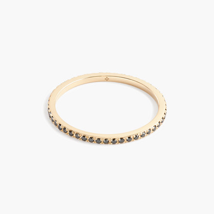 Gabriela Artigas® 14k gold Axis Ring with pave black diamonds