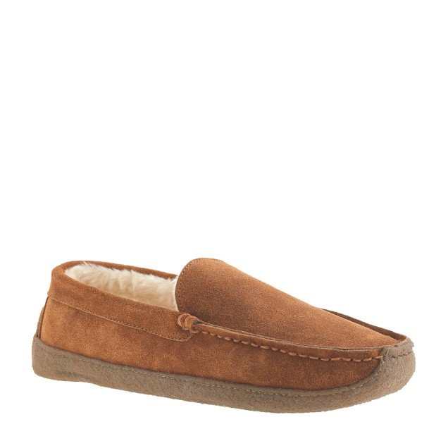 Men 39 s shearling slippers j crew for J crew bedroom slippers