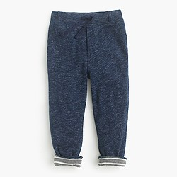Kids' jersey-lined cozy sweatpant