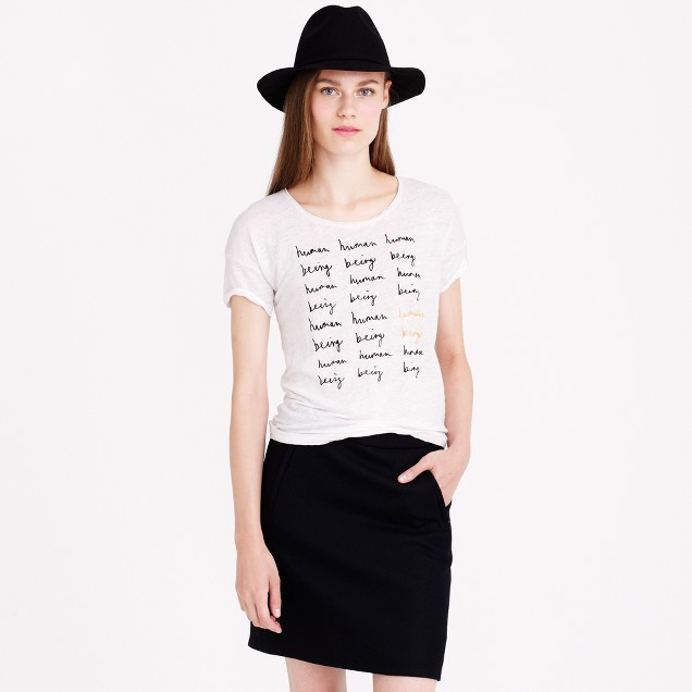 Hugo Guinness™ for J.Crew human being linen T-shirt