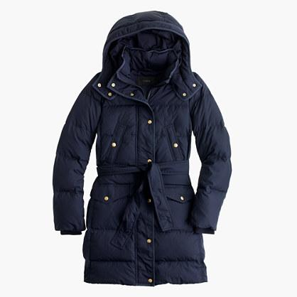 Petite wintress belted puffer coat