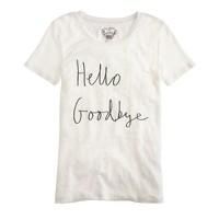 Hugo Guinness™ for J.Crew hello goodbye linen T-shirt
