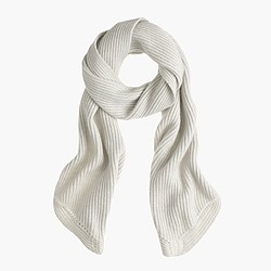 Collection ribbed cashmere scarf