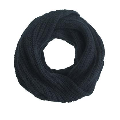 Chunky ribbed scarf