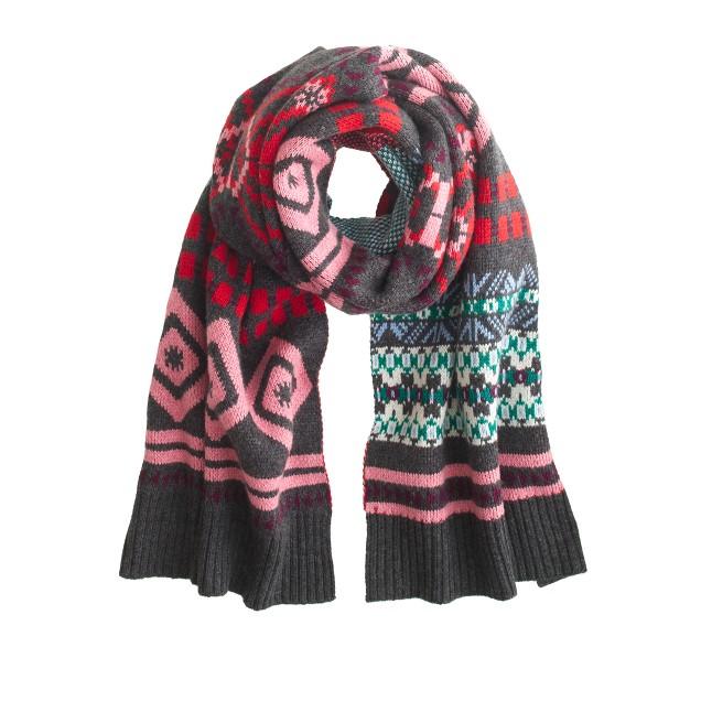 Abstract Fair Isle scarf