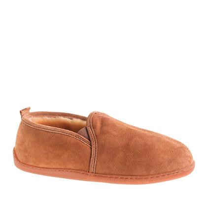 Men 39 s minnetonka moccasin shearling slippers minnetonka for J crew bedroom slippers