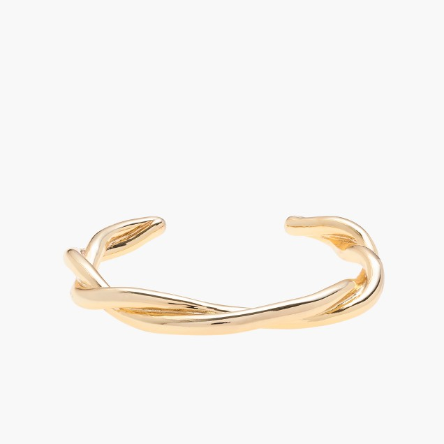 Gold braid cuff bracelet
