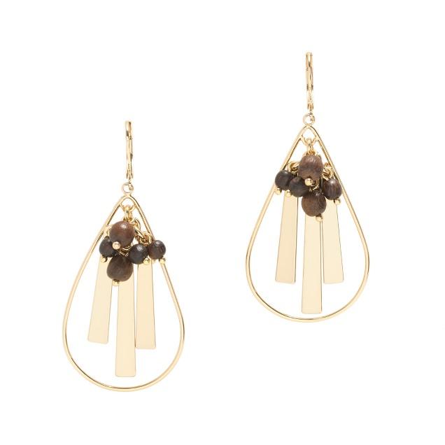 Wood charm earrings