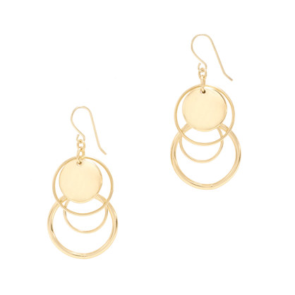 Circle charm earrings