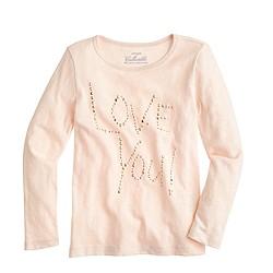 Girls' love you T-shirt