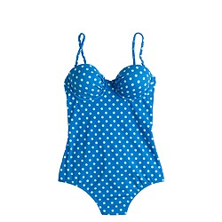 D-cup dotty underwire one-piece swimsuit