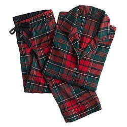 Pajama set in plaid flannel