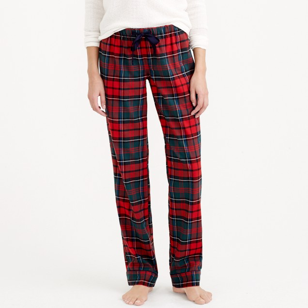Pajama pant in plaid flannel
