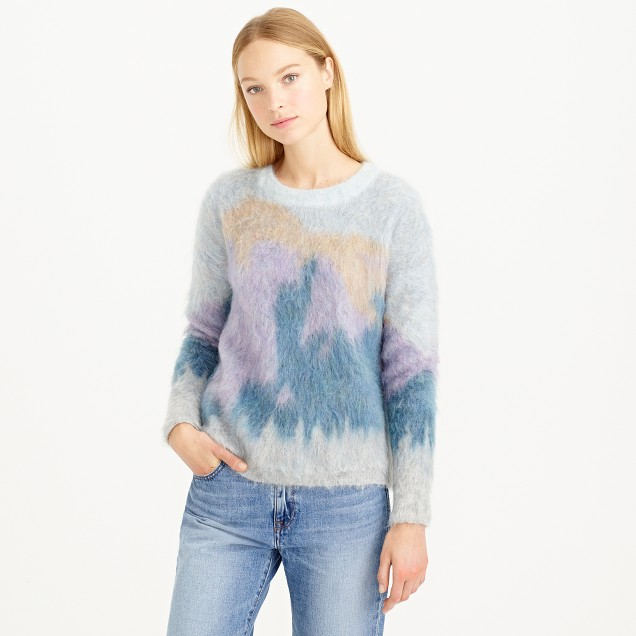 Brushed mohair sweater