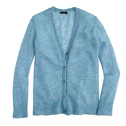 Mohair cardigan sweater