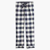Petite pajama pant in buffalo check flannel