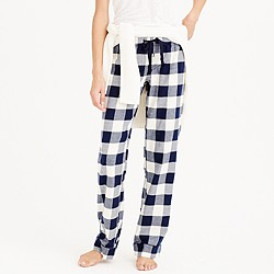 Petite pajama pant in buffalo check flannel