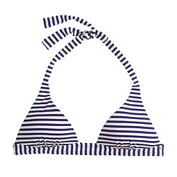 Deck-stripe sculpted halter bikini top