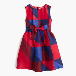Girls' holiday tartan dress