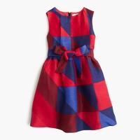 Girls' holiday tartan dress