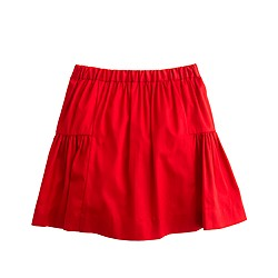 Girls' flared sateen skirt