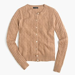 Cambridge cable cardigan sweater