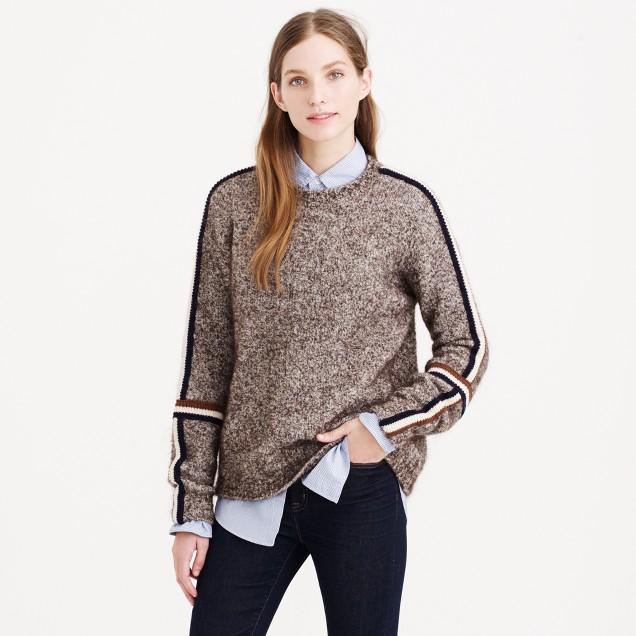 Varsity-stripe sweater