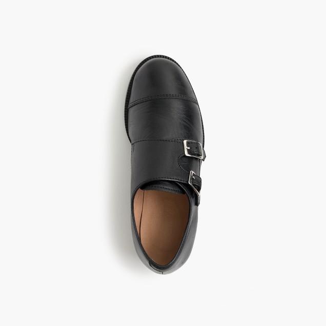 Kids' double monk strap shoes