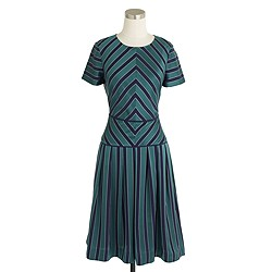 Collection chevron-stripe silk dress