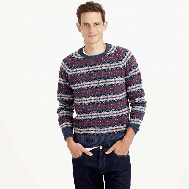 Tall lambswool Fair Isle sweater