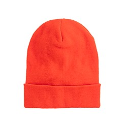 Kids' neon orange beanie