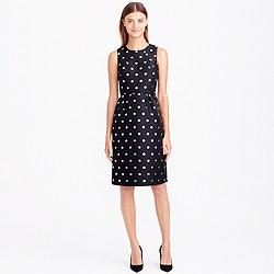 Metallic dot jacquard dress