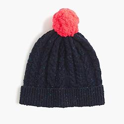 Kids' Donegal wool pom-pom beanie