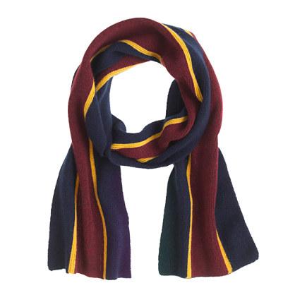 Kids' cashmere collegiate-stripe scarf