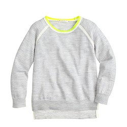 Girls' neon-tipped sweater