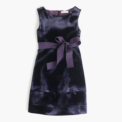 Girls' velvet dress