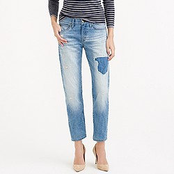 Point Sur vintage cropped Japanese selvedge jean in Medrano wash
