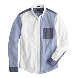 Vintage oxford shirt in multipanels