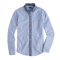 Slim vintage oxford shirt with contrast collar