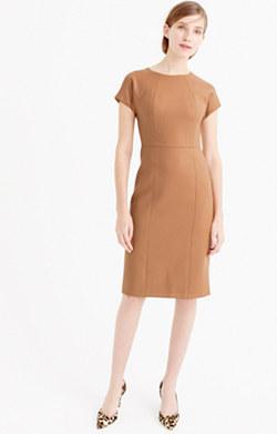Dolman dress in double-serge wool