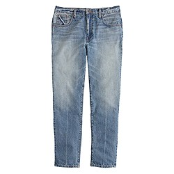 Wide-leg cropped jean in Thurston wash