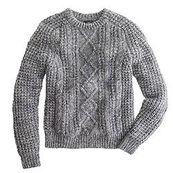 Italian wool-alpaca cable sweater