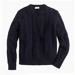 Wallace & Barnes Shetland wool cable sweater