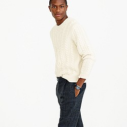 Wallace & Barnes Shetland wool cable sweater
