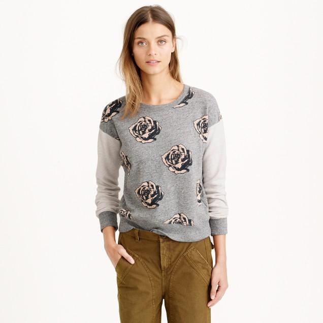 Pop Art flowers sweatshirt